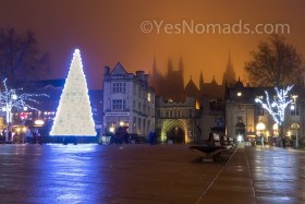 Foto Der Woche – Erleuchteter Cathedral Square in Peterborough in England