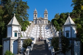 Video: Besuch des Bom Jesus Do Monte Klosters in Braga in Portugal