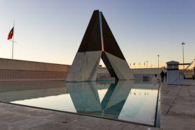 Video: Wachwechsel Militärmuseum Museu Do Combatente in Lissabon