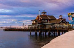 Foto Der Woche – Sonnenuntergang San Diego Pier Cafe beim Seaport Village