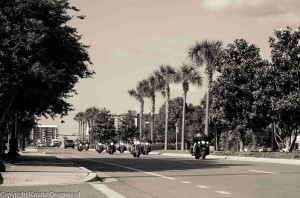 Bikers at the Panama City Beach Motorcycle Rally