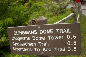 Sign at Clingmans Dome Trail