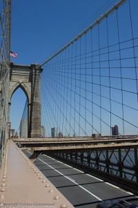 Brooklyn Bridge view over Manhattan
