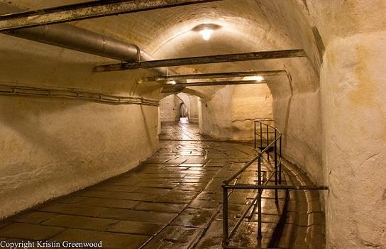 Walkway Inside The Old Cellars