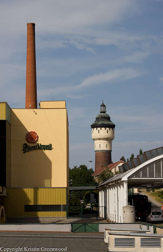 Water Tower At Pilsner Urquell Brewery