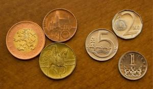 All the Czech Koruna coins.