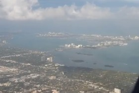 Video: AA2207 MIA-LAS Aerial View Plane Taking Off From Miami