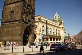 Video: Prague Sights With Estates Theatre & Powder Tower