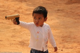 Photo Of The Week – A Boy Playing In Siem Reap In Cambodia