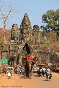 Southgate of Angkor Thom Siem Reap Cambodia
