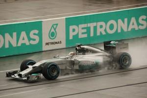 lewis hamilton car qualifying rain 2014 sepang