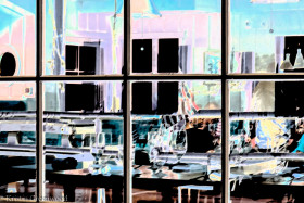 Photo Of The Week – Dinner Reflection taken in Malibu in California