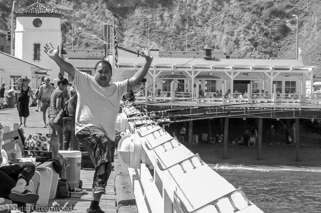 Fisherman at Malibu Pier