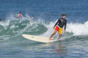Surfer at Malibu Beach