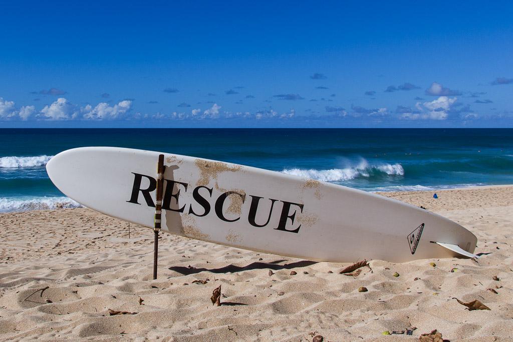 Surfboard Rescue Oahu Hawaii