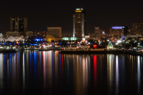 Photo Of The Week – View at night The Pike at Long Beach Rainbow Harbor