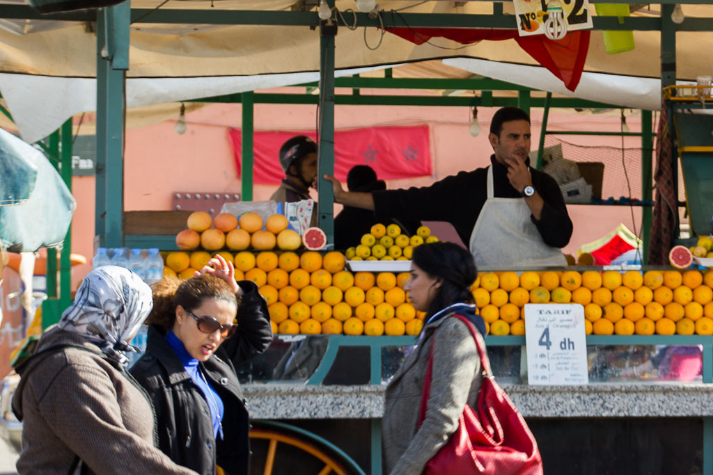 Orange Juice Seller at Djemaa El Fna Square