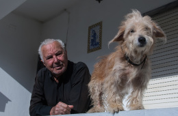 Photo Of The Week – Nico the dog & his proud owner in Santo Estevao in Portugal