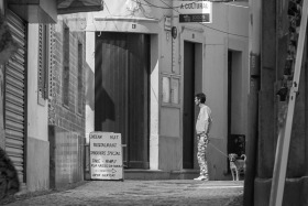 Photo Of The Week – Street in Olhão in Portugal Black and White Photography