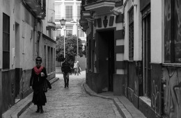 Photo Of The Week – Black And White Street Scene In Seville Spain Sevilla