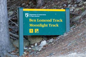 Ben Lomond Saddle Trail Sign