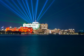 Photo Of The Week – The Emirates Palace in Abu Dhabi at Night during the UAE National Day