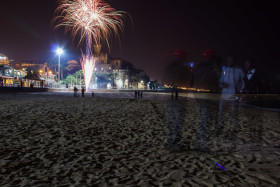 Photo Of The Week – Happy New Year 2015 at the beach in Estoril in Portugal