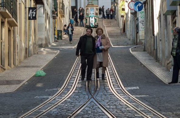 Photo Of The Week – The Bica Funicular in Lisbon Elevador da Bica Ascensor da Bica