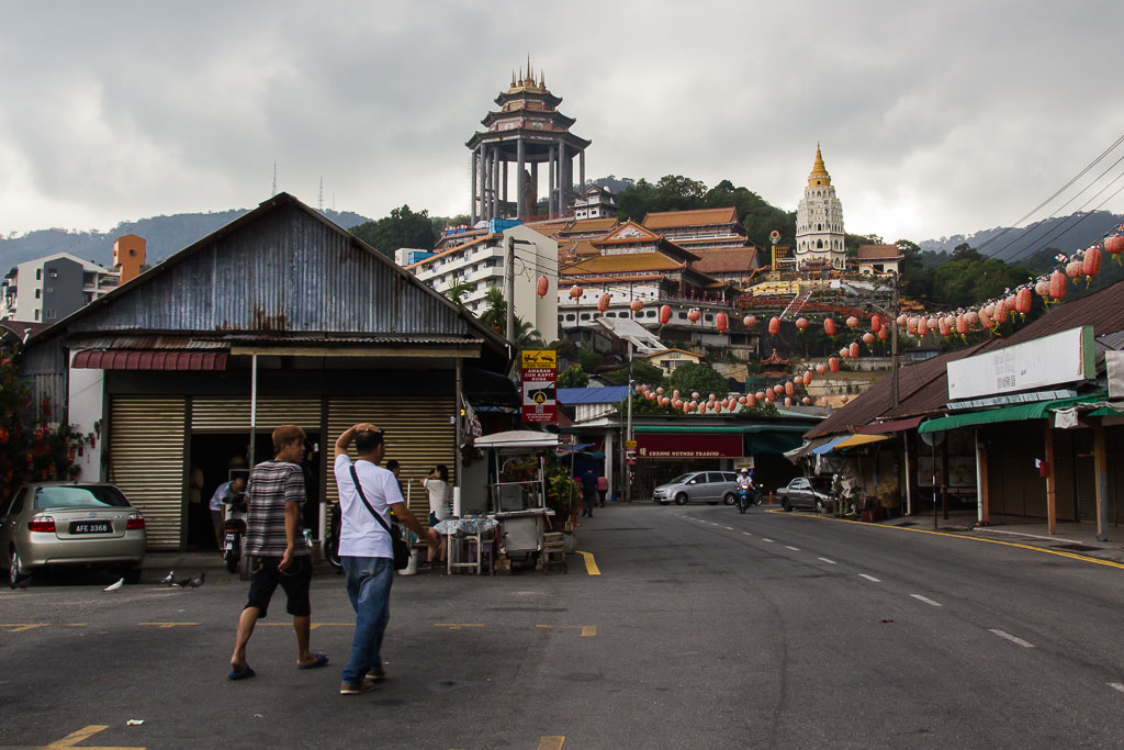 View of temple from Ayer Itam village
