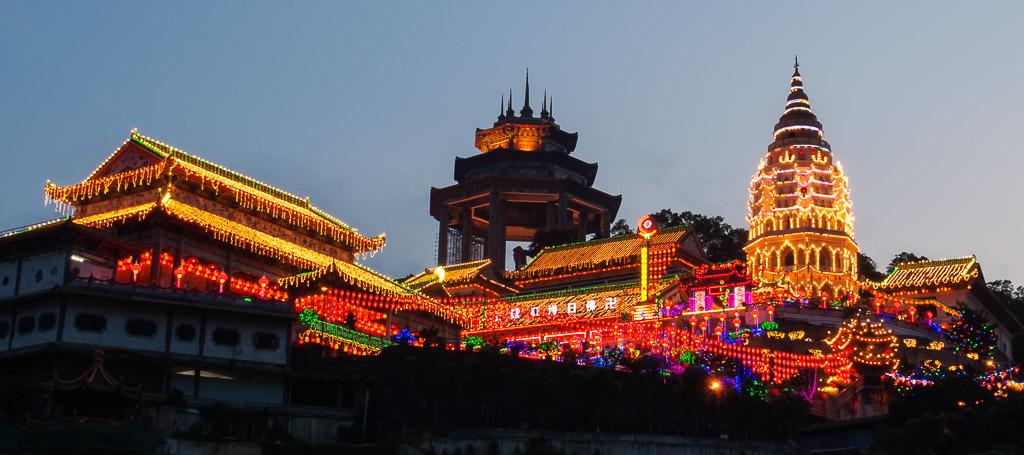 Display of Lights at Kek Lok Si Temple Penang Malaysia