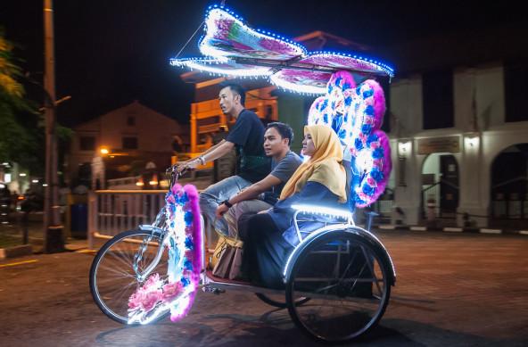 Photo Of The Week – Rickshaw in Melaka in Malaysia Malacca Trishaw
