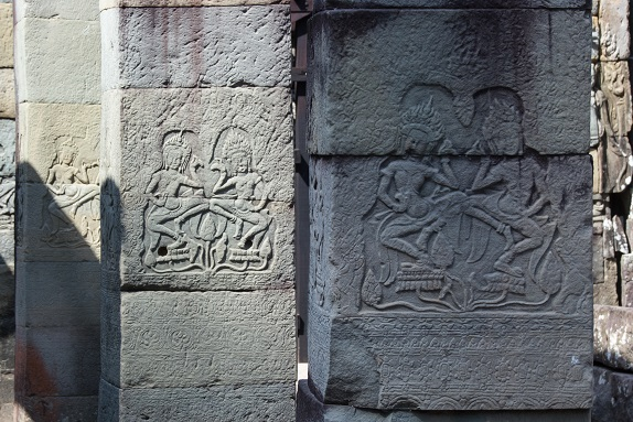 Bas Relief at Banteay Kdei Temple Angkor Cambodia