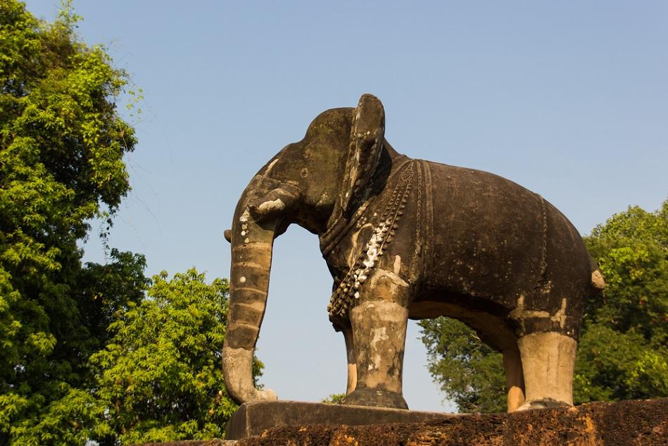 Elephant at East Mebon Temple Angkor Cambodia