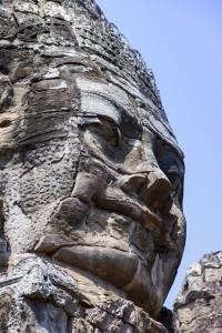Face at Bayon Temple Angkor Cambodia