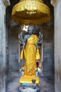 Statue Hindu god Vishnu at Angkor Wat Temple Cambodia