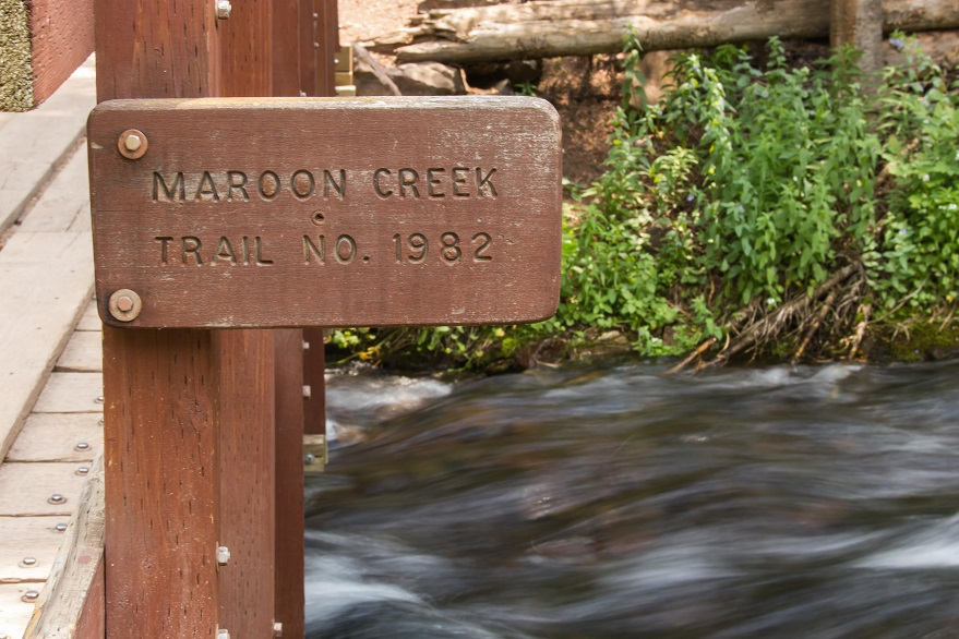 Maroon Creek Trail Sign