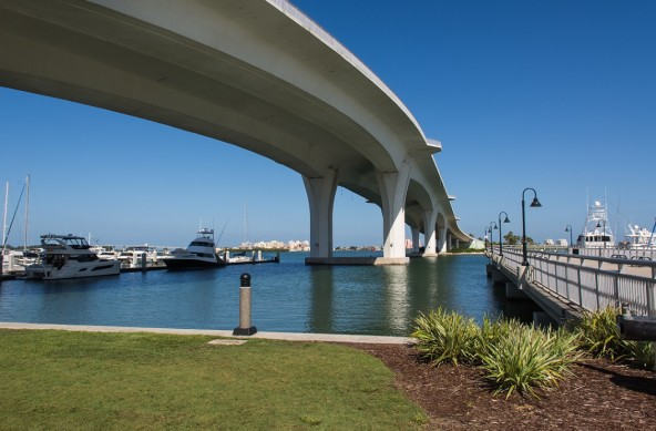 Photo Of The Week – Clearwater Memorial Causeway seen from Clearwater Harbor in Florida