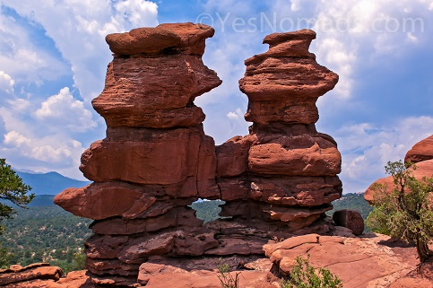 Photo of Siamese Twins at Garden of the Gods Photo is for Sale - click on image for details