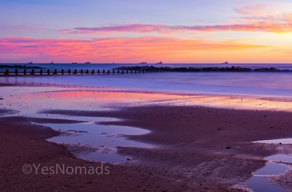 Photo of the week – Sunrise at Aberdeen Beach in Scotland