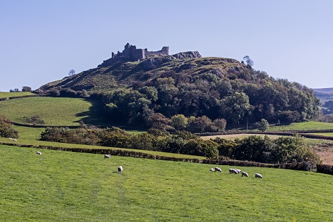 Carreg Cennen Castle in Wales