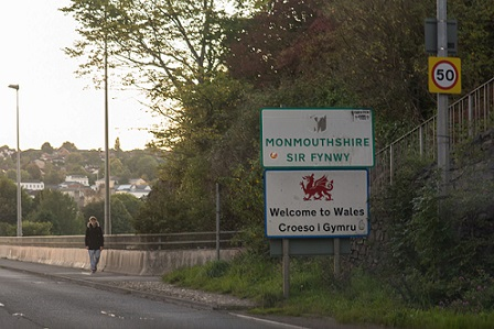 Border England to Wales