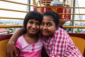 Girls Ferris Wheel at Thaipusam Batu Caves