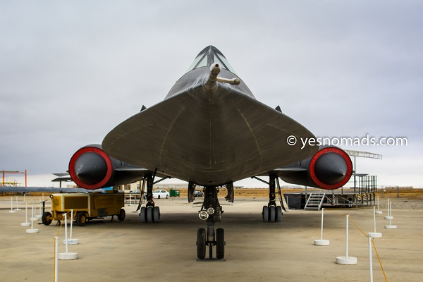 Head-on view of an A-12 Lockheed
