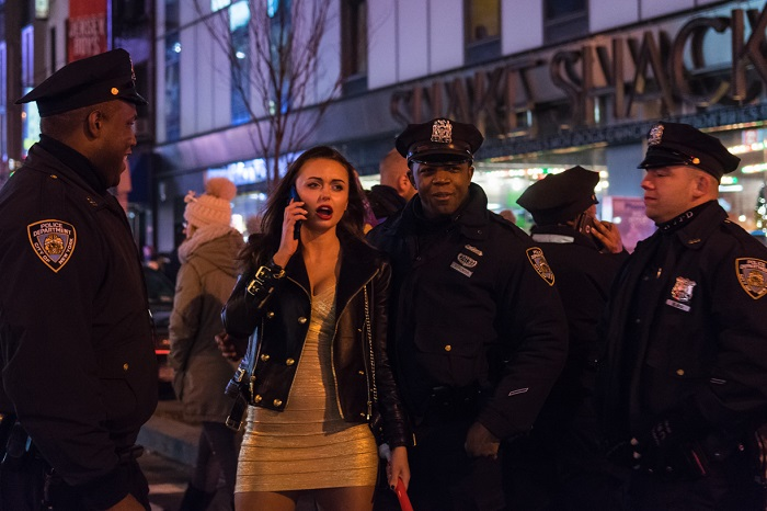 New York Police Officers at New Year