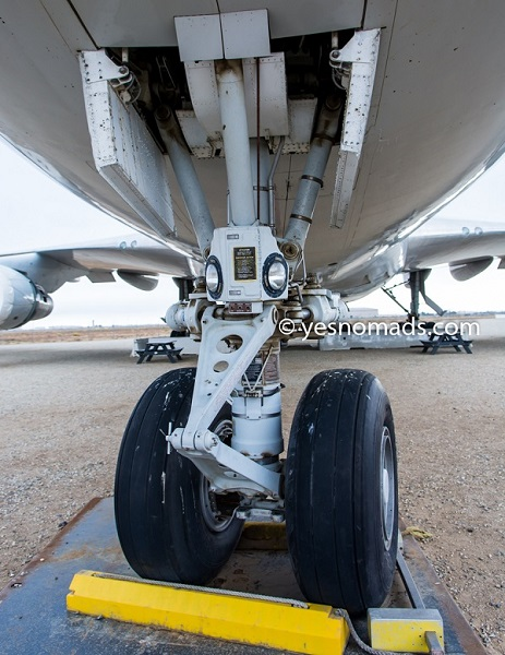 Undercarriage of Boeing 747