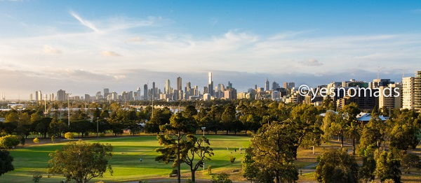 Albert Park and Skyline of Melbourne