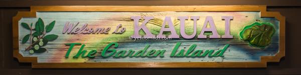 Kauai island sign