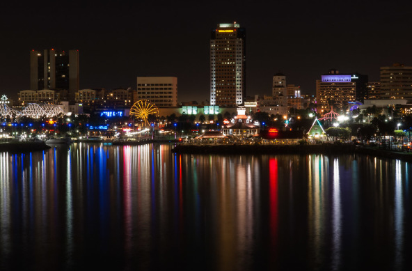 Photo Of The Week View At Night Pike Long Beach Rainbow Harbor